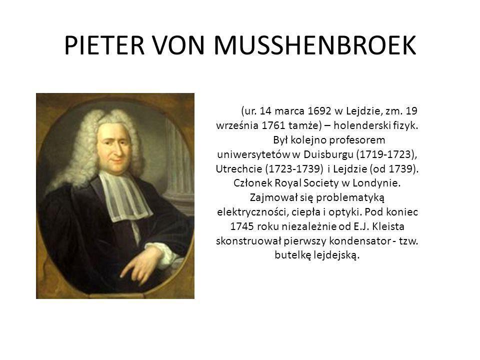 PIETER VON MUSSHENBROEK
