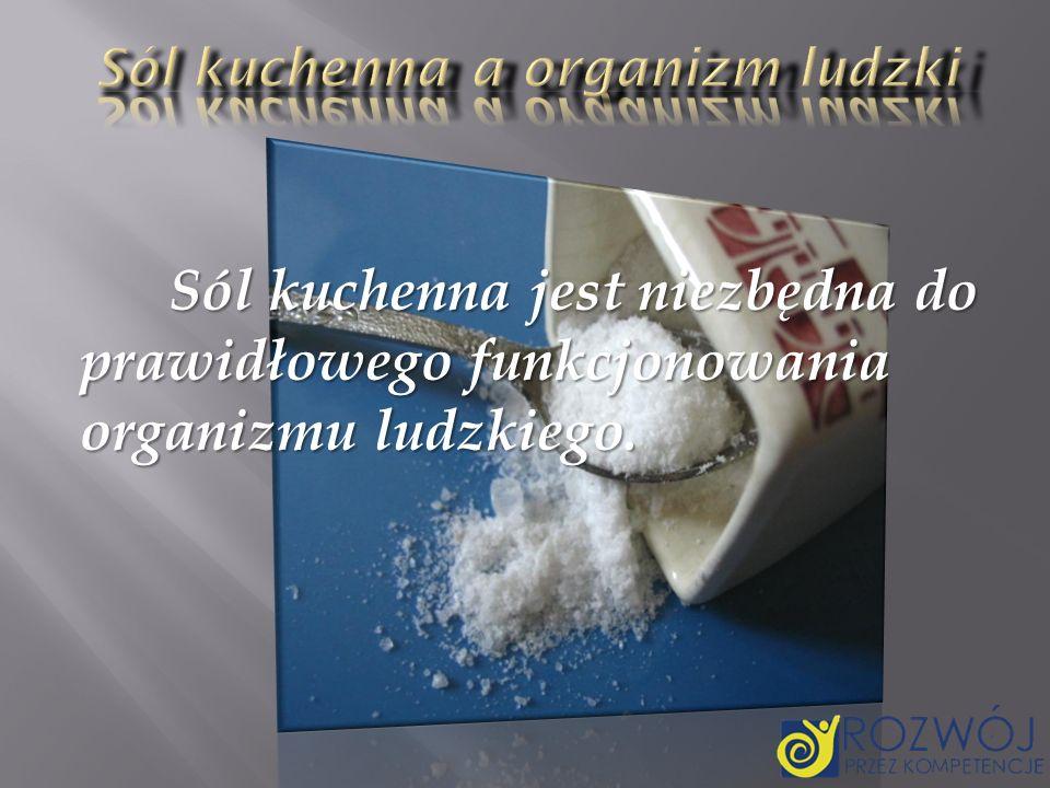 Sól kuchenna a organizm ludzki