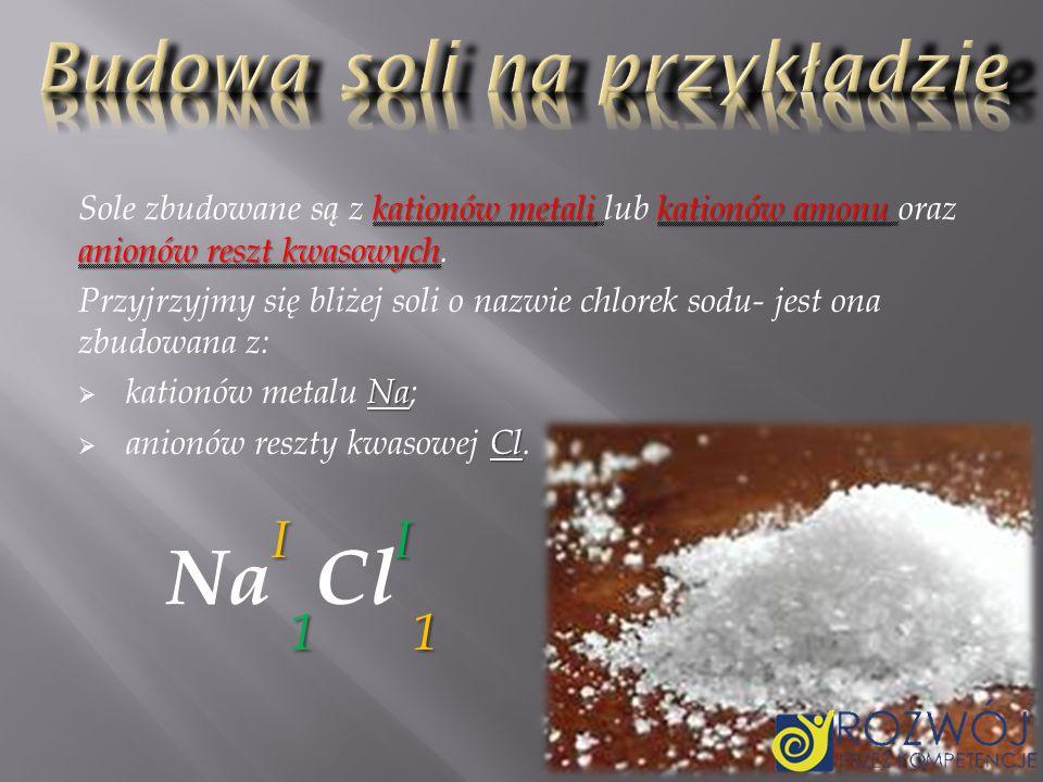 Budowa soli na przykładzie