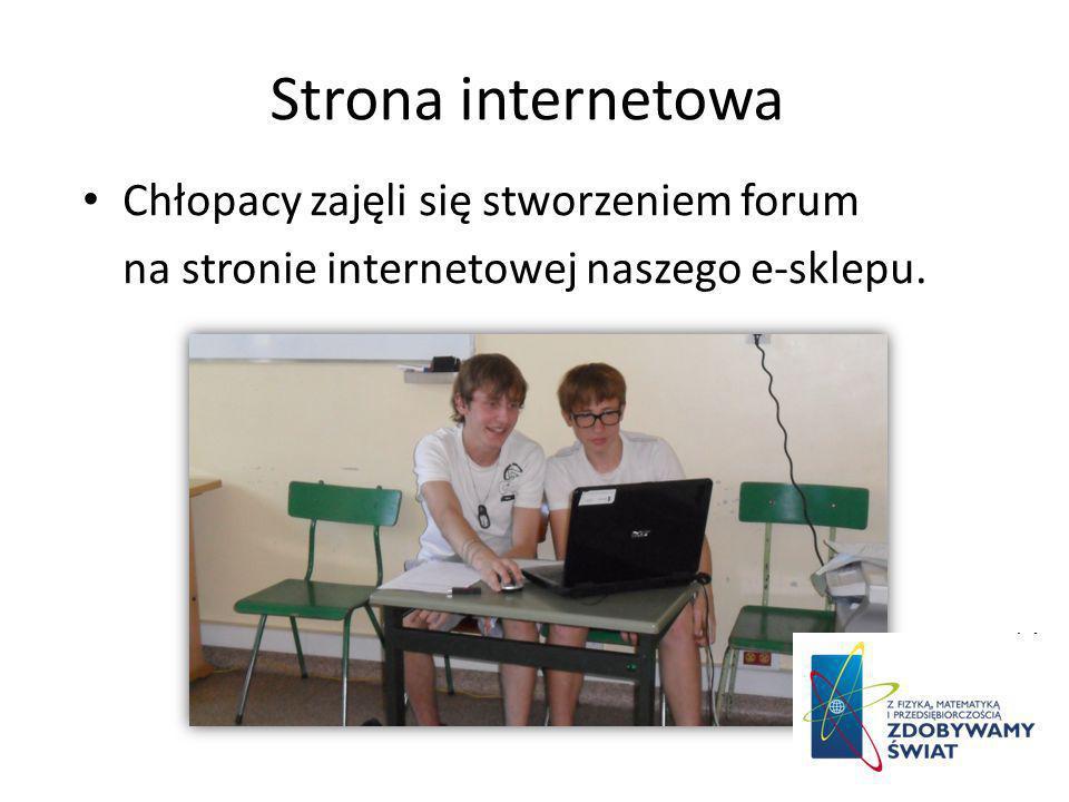 Strona internetowa Chłopacy zajęli się stworzeniem forum