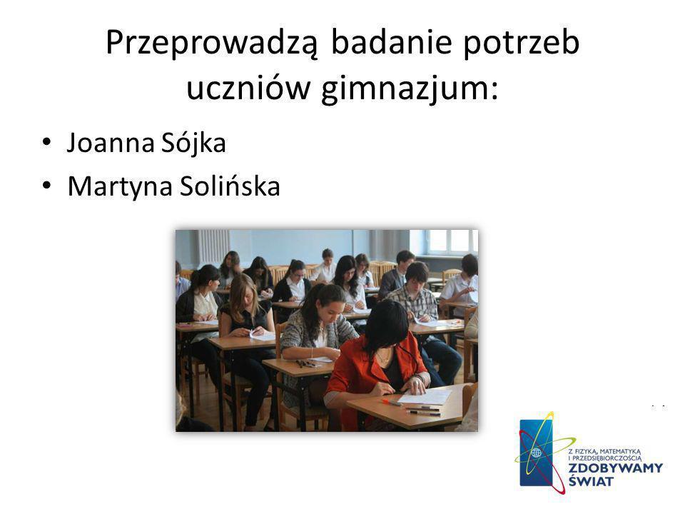 Przeprowadzą badanie potrzeb uczniów gimnazjum: