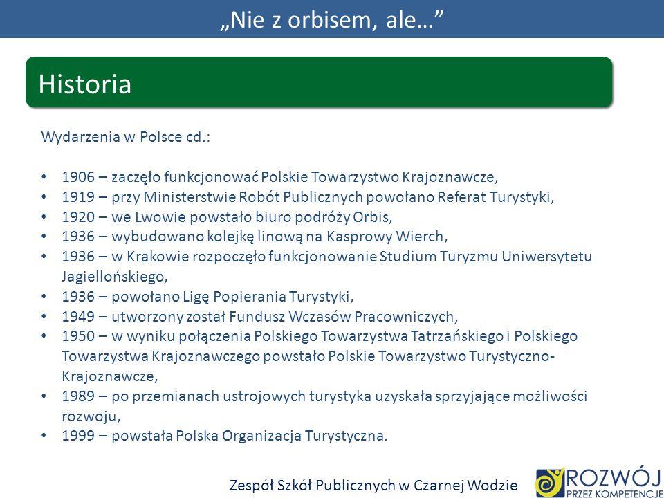 """Historia """"Nie z orbisem, ale… Wydarzenia w Polsce cd.:"""
