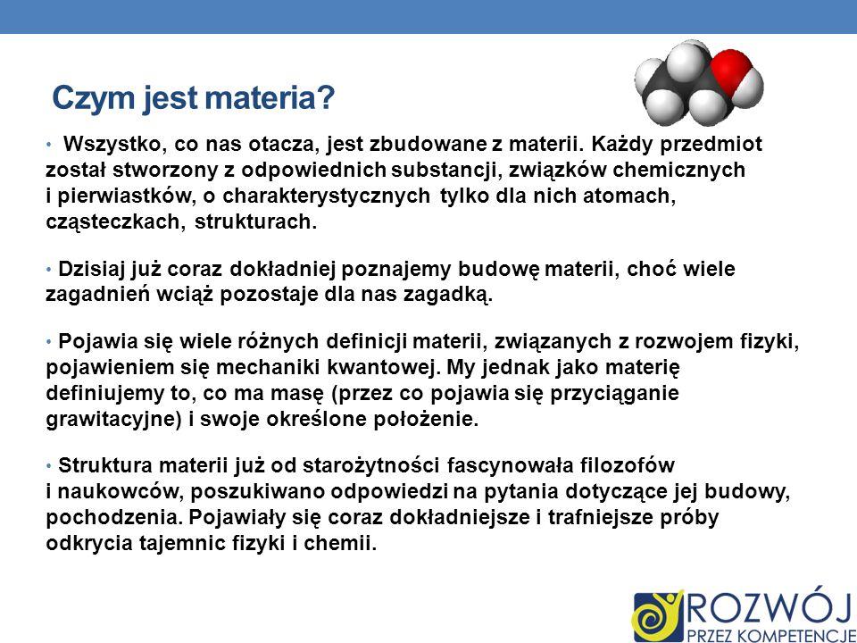 Czym jest materia