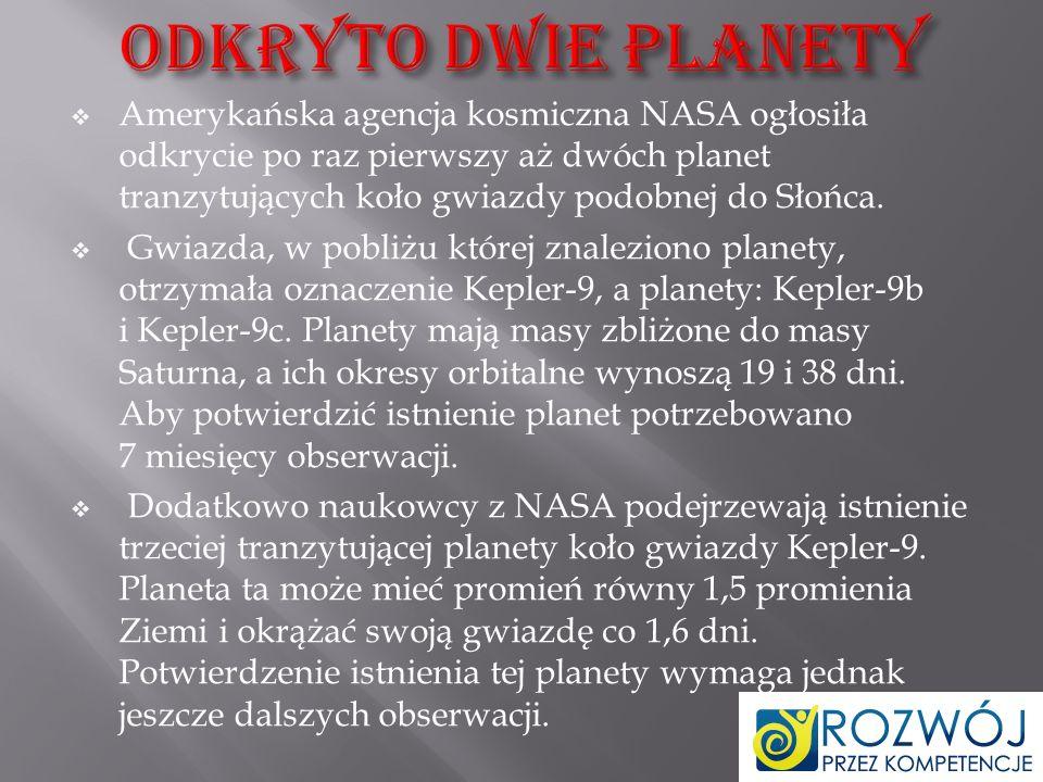 Odkryto dwie planety