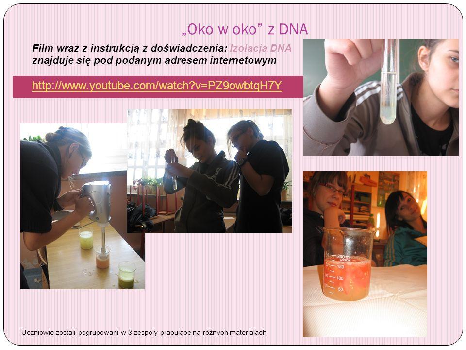 """""""Oko w oko z DNA http://www.youtube.com/watch v=PZ9owbtqH7Y"""