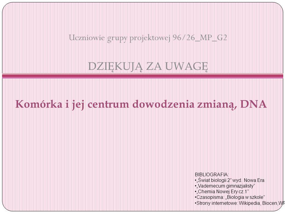 Uczniowie grupy projektowej 96/26_MP_G2