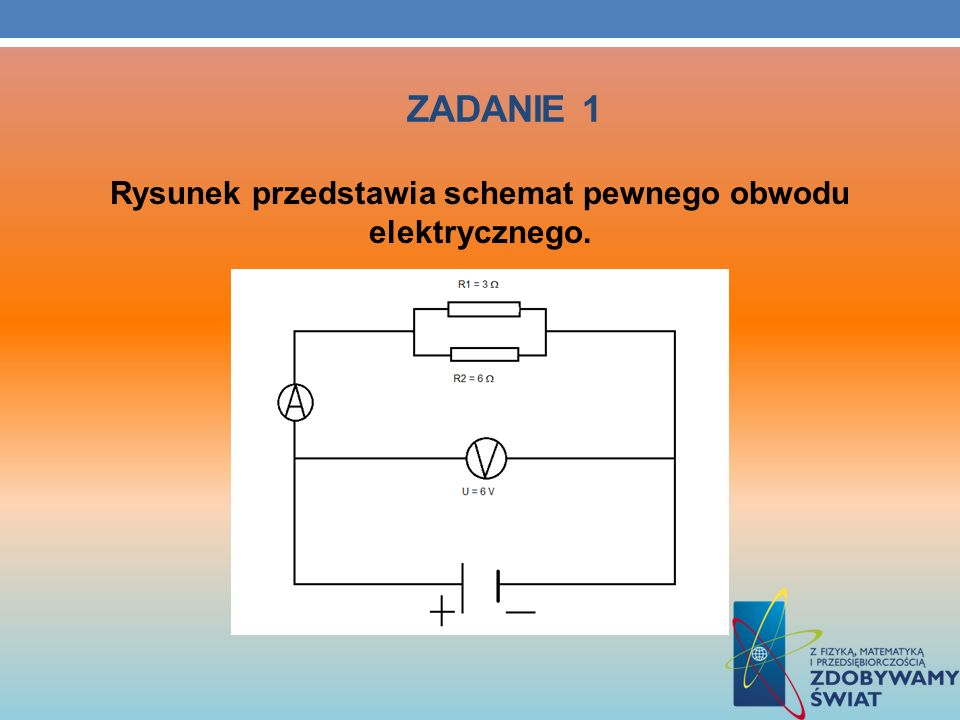 Rysunek przedstawia schemat pewnego obwodu elektrycznego.