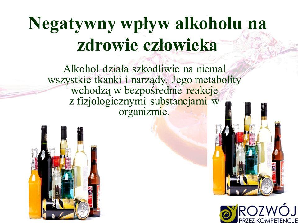 Negatywny wpływ alkoholu na zdrowie człowieka