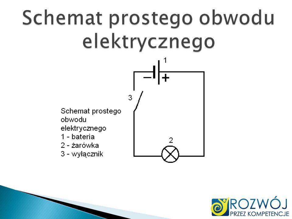 Schemat prostego obwodu elektrycznego