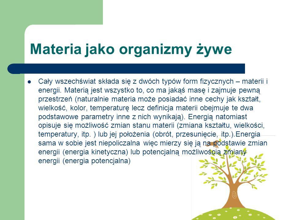 Materia jako organizmy żywe
