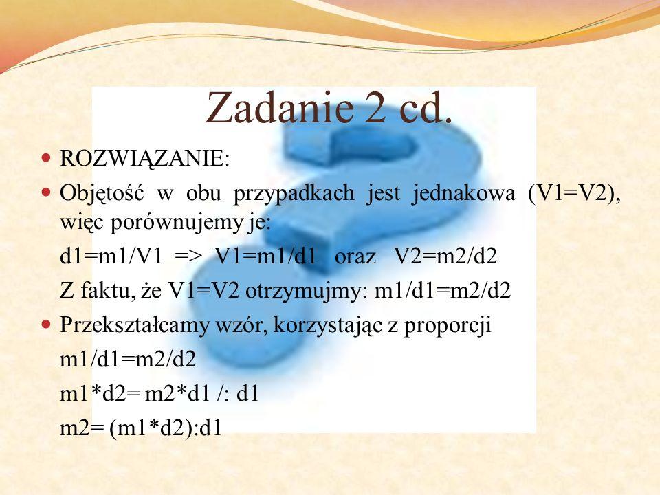 Zadanie 2 cd. ROZWIĄZANIE: