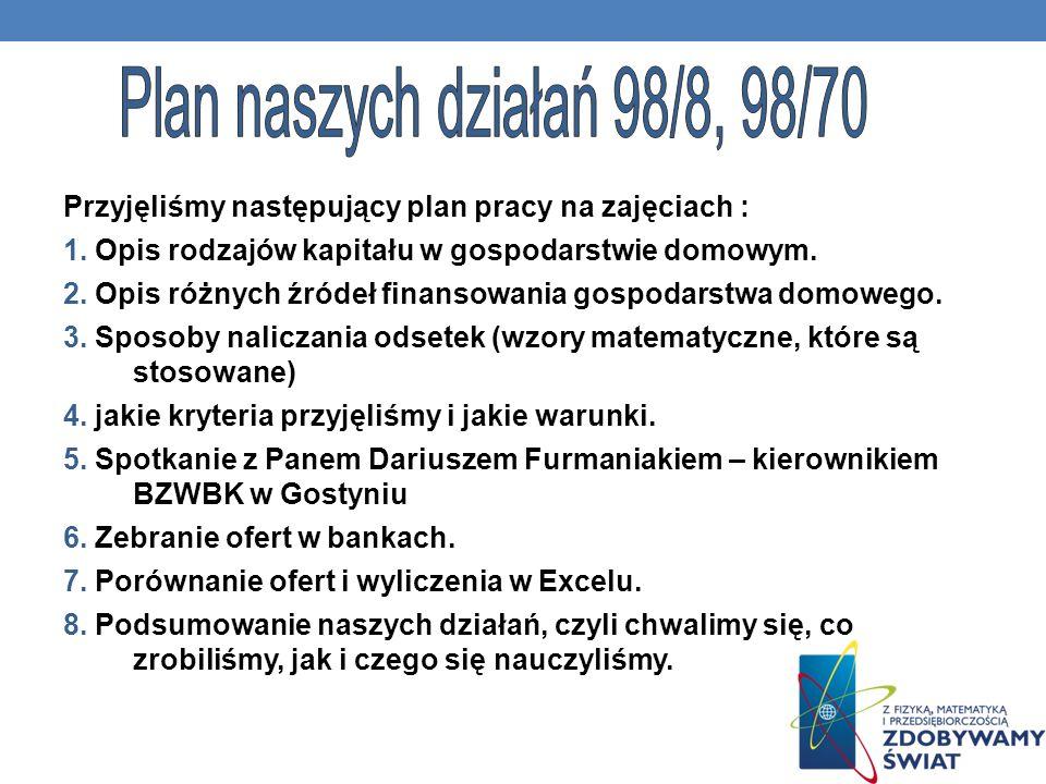 Plan naszych działań 98/8, 98/70