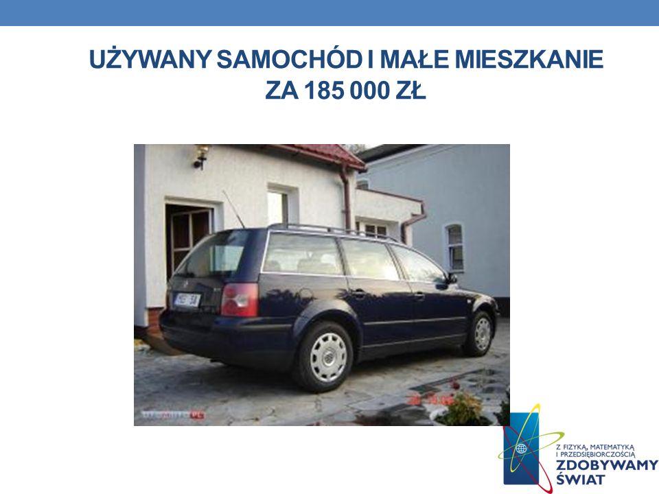 Używany Samochód i małe mieszkanie za 185 000 zł