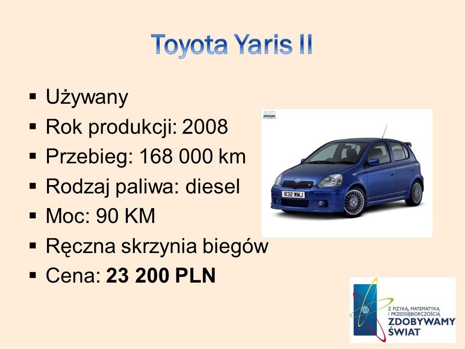 Toyota Yaris II Używany Rok produkcji: 2008 Przebieg: 168 000 km