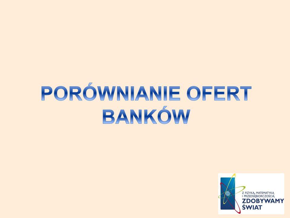 PORÓWNIANIE OFERT BANKÓW