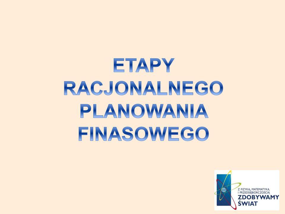 ETAPY RACJONALNEGO PLANOWANIA FINASOWEGO