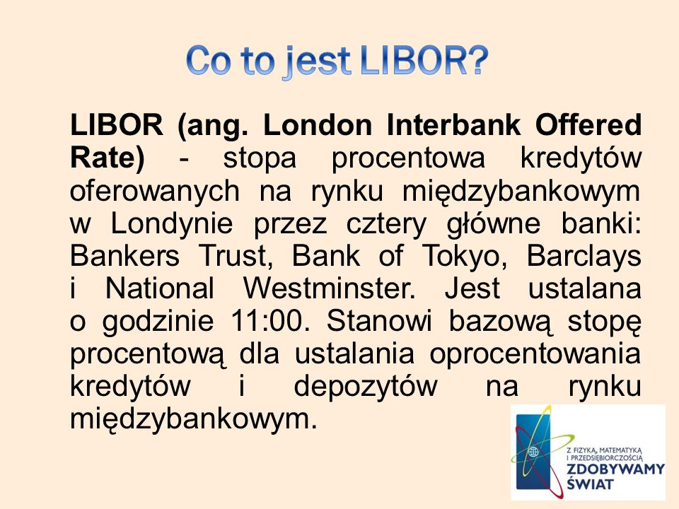 Co to jest LIBOR