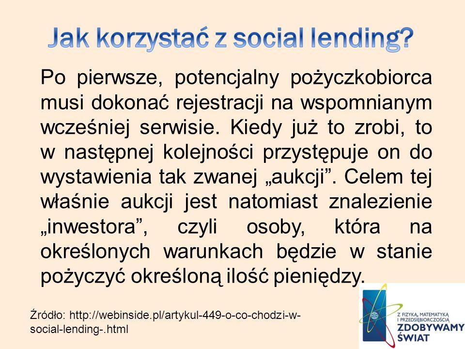 Jak korzystać z social lending