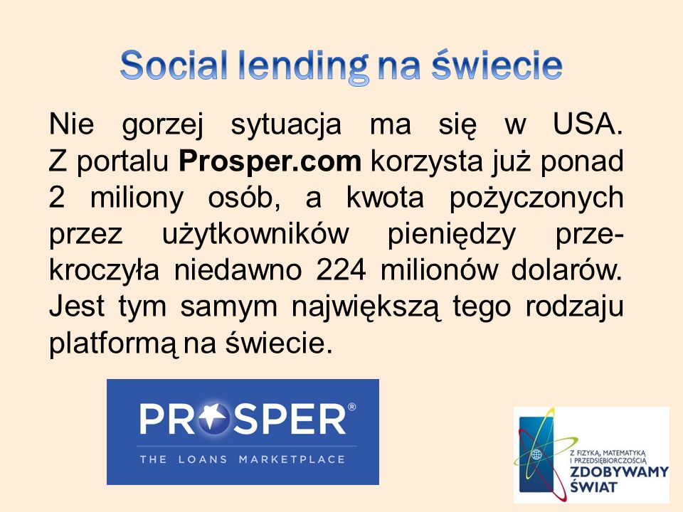 Social lending na świecie
