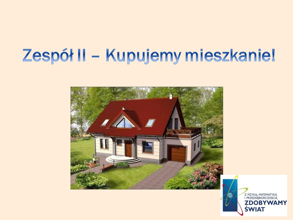 Zespół II – Kupujemy mieszkanie!