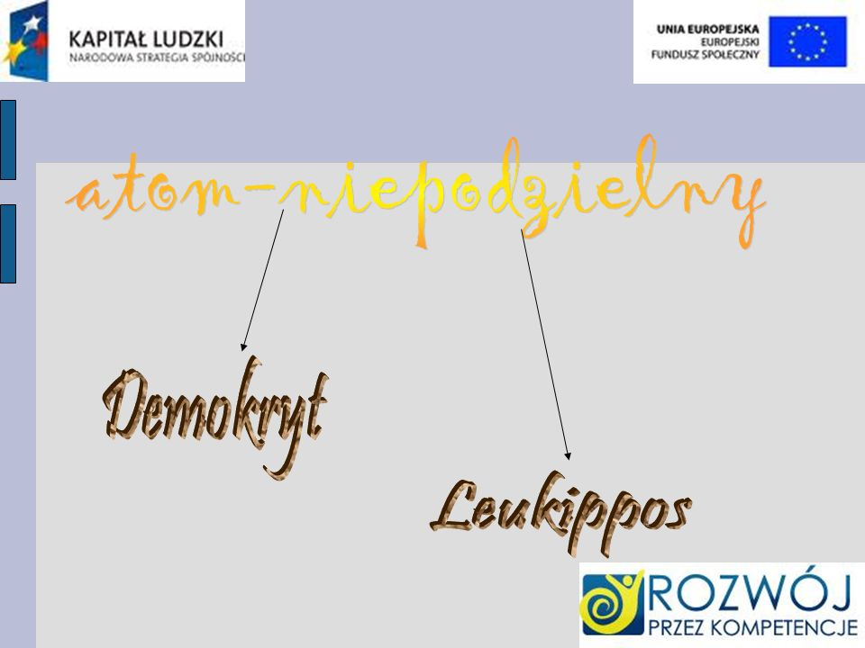 atom-niepodzielny Demokryt Leukippos