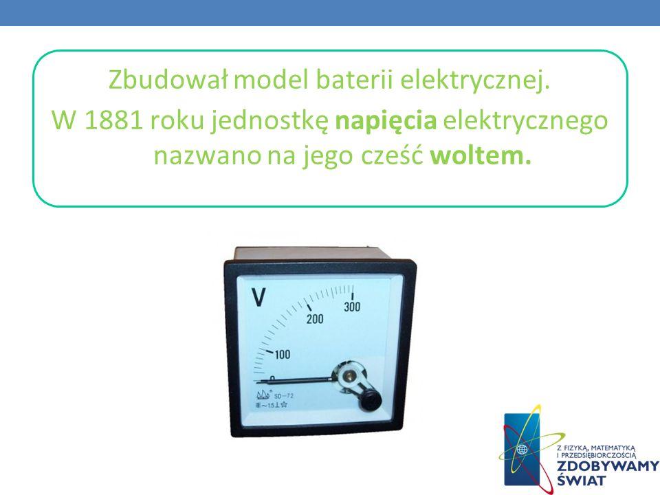 Zbudował model baterii elektrycznej