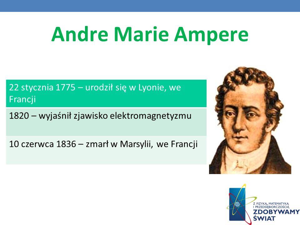 Andre Marie Ampere 22 stycznia 1775 – urodził się w Lyonie, we Francji