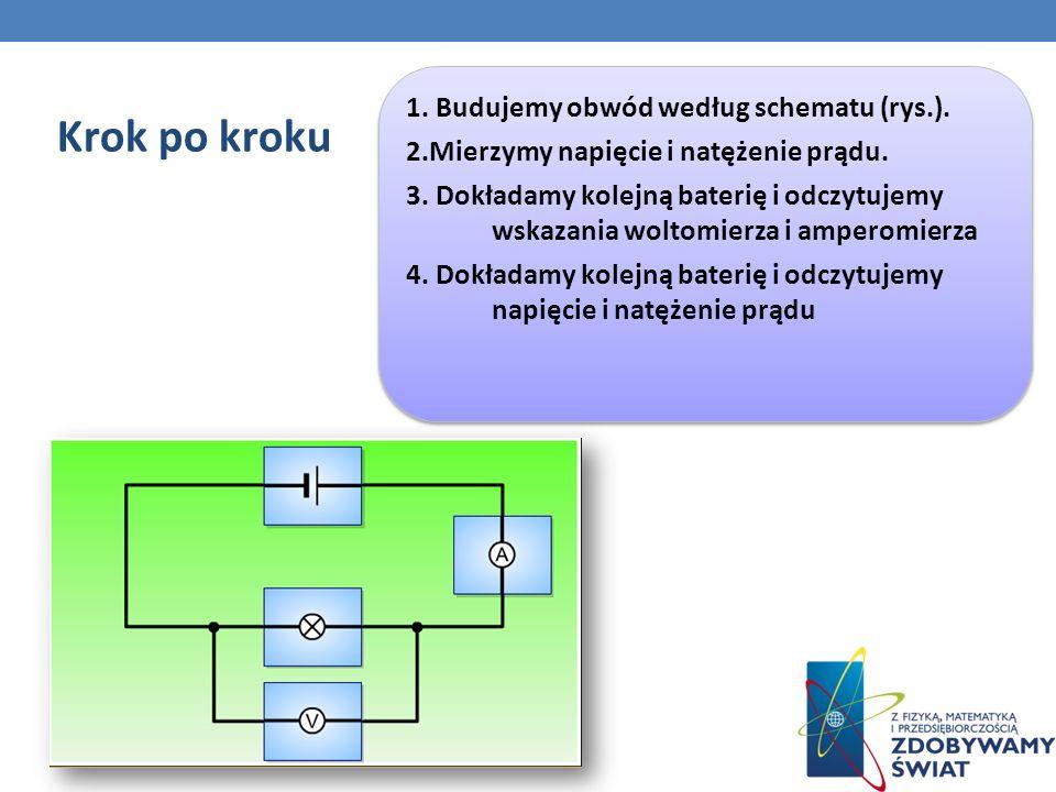 Krok po kroku 1. Budujemy obwód według schematu (rys.).