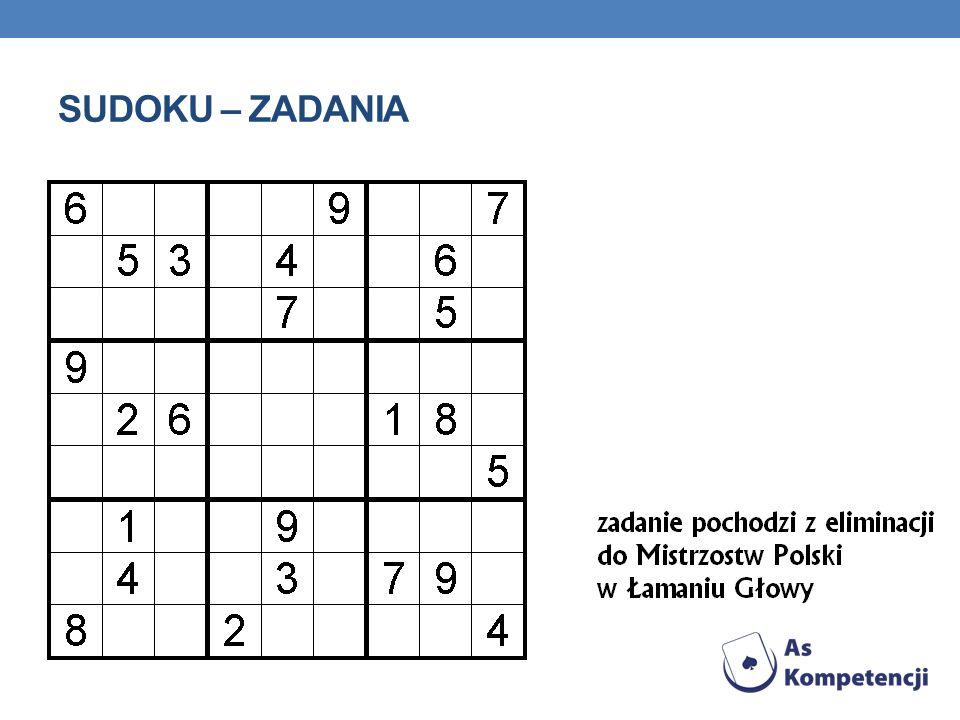 Sudoku – zadania
