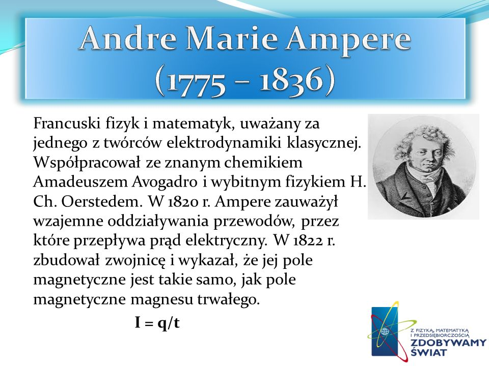 Andre Marie Ampere (1775 – 1836)