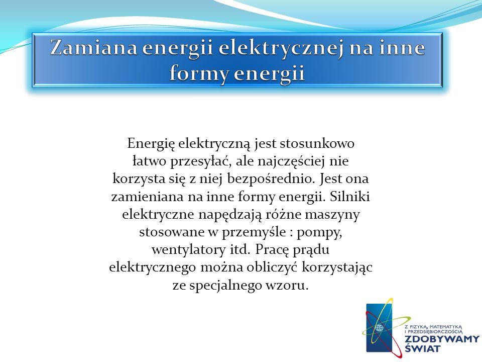 Zamiana energii elektrycznej na inne formy energii