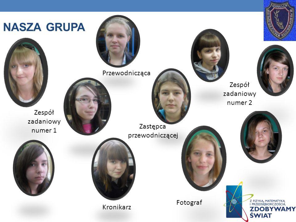 Nasza grupA Przewodnicząca Zespół zadaniowy numer 2