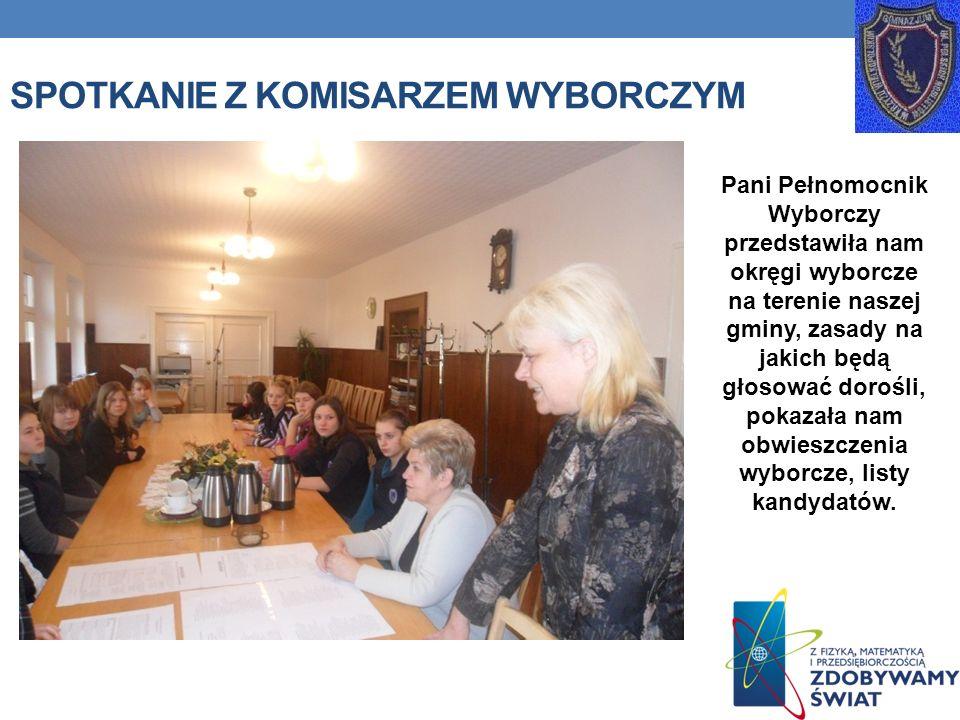 Spotkanie z komisarzem wyborczym