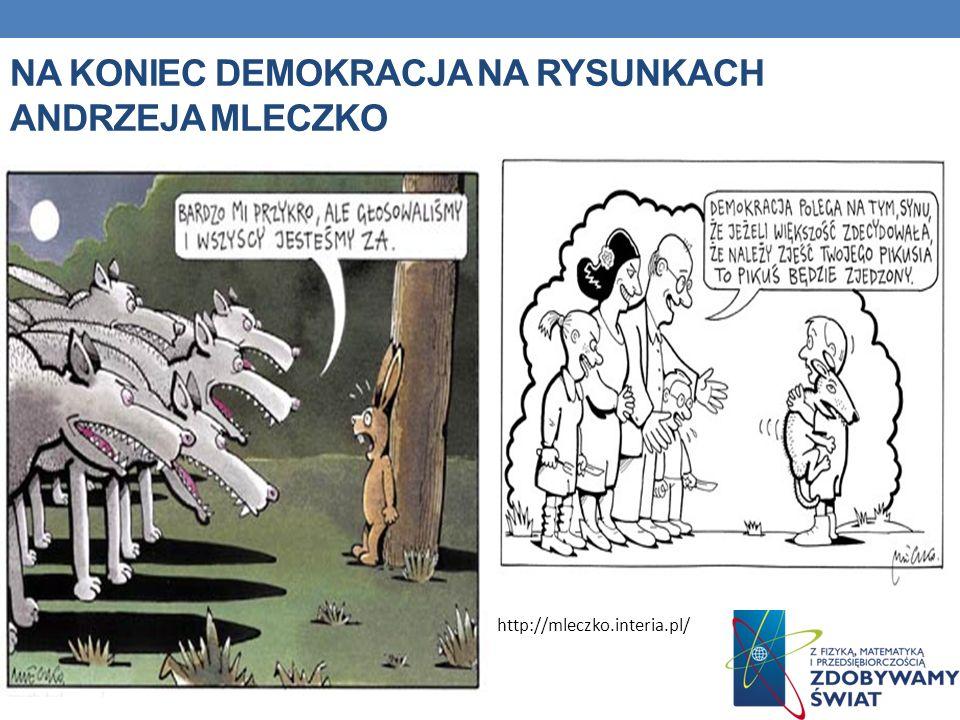 Na koniec demokracja na rysunkach andrzeja mleczko
