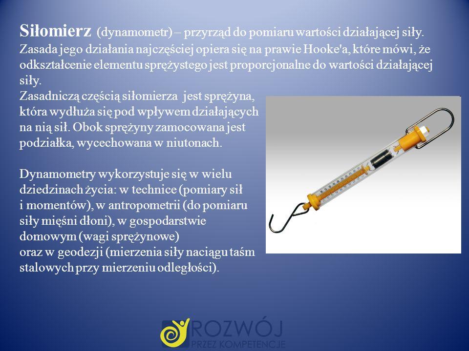 Siłomierz (dynamometr) – przyrząd do pomiaru wartości działającej siły
