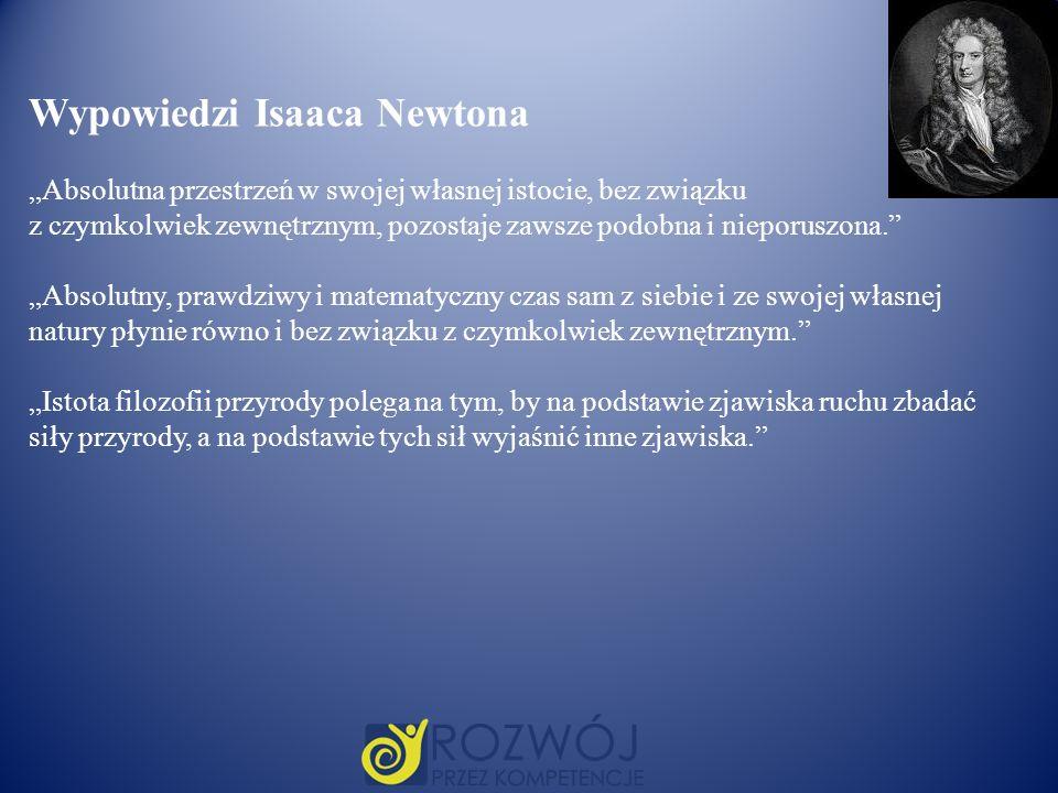 Wypowiedzi Isaaca Newtona