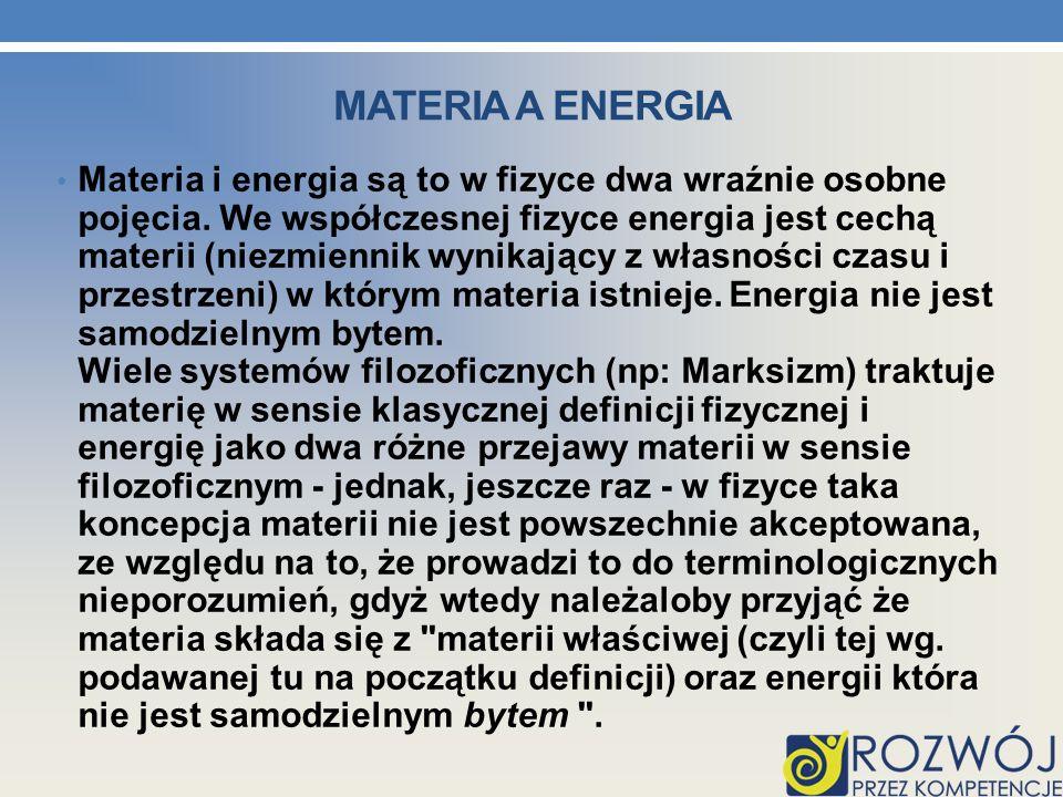 MATERIA A ENERGIA