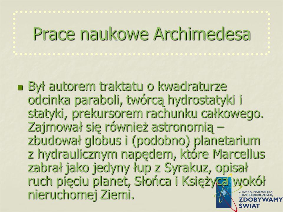 Prace naukowe Archimedesa