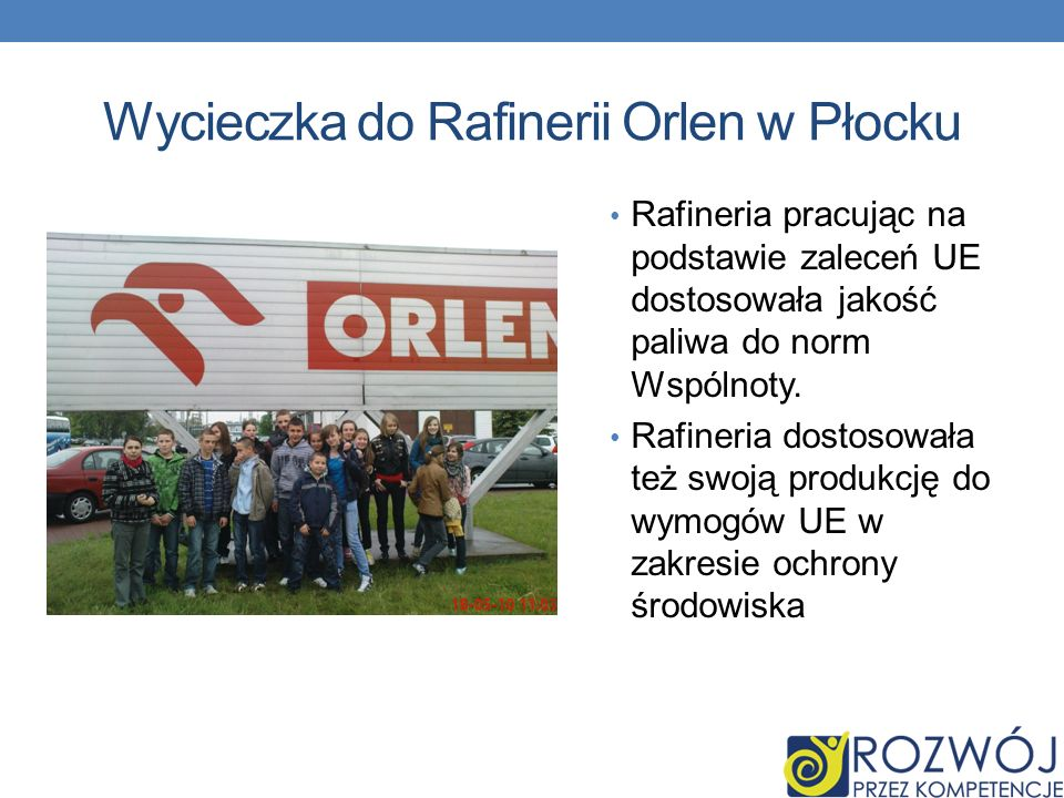 Wycieczka do Rafinerii Orlen w Płocku