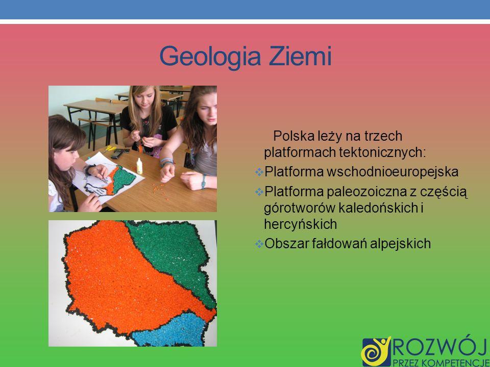 Geologia Ziemi Polska leży na trzech platformach tektonicznych: