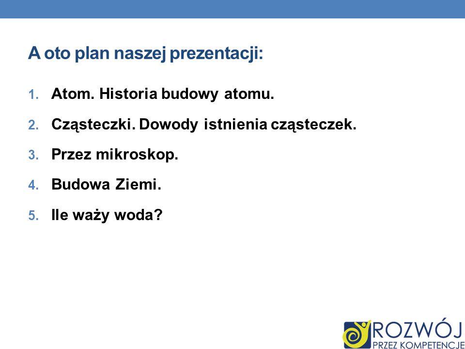 A oto plan naszej prezentacji: