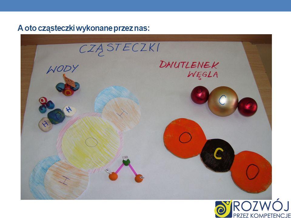 A oto cząsteczki wykonane przez nas: