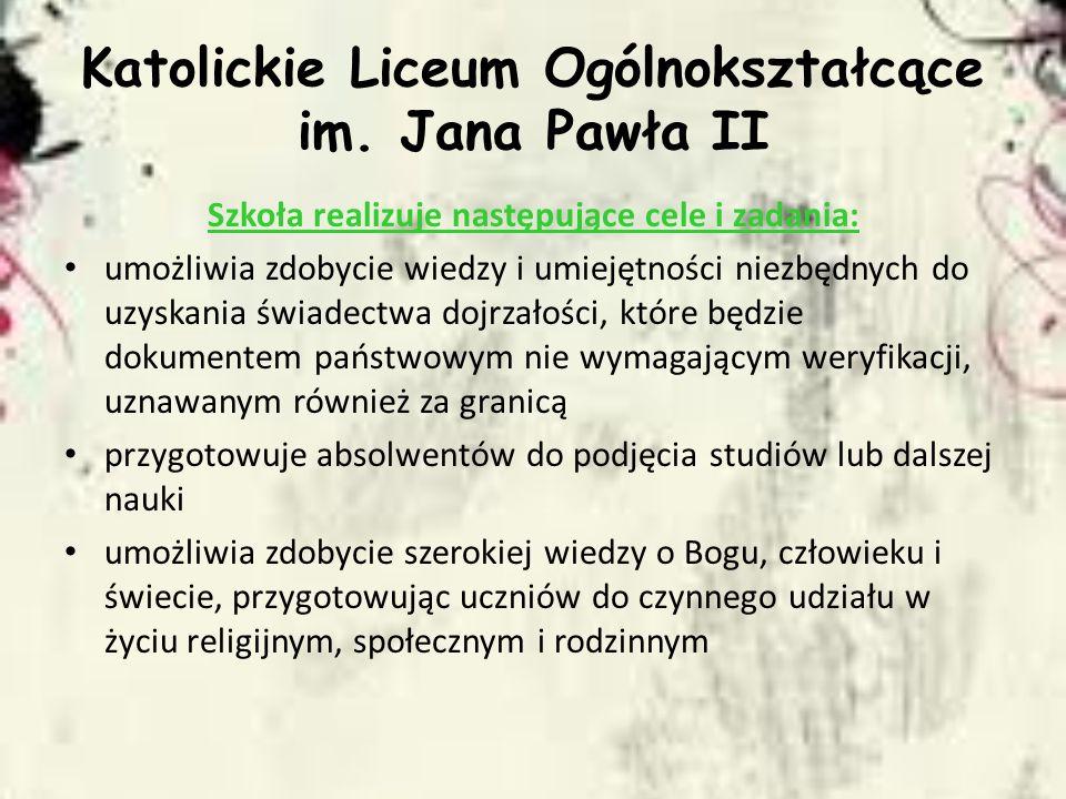 Katolickie Liceum Ogólnokształcące im. Jana Pawła II