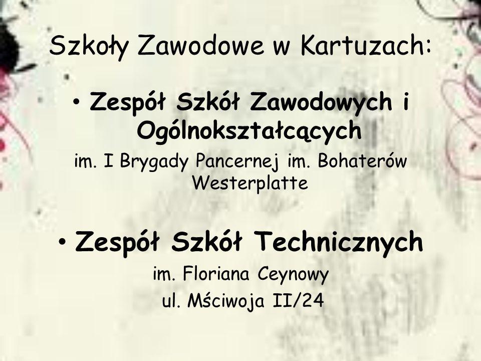Szkoły Zawodowe w Kartuzach: