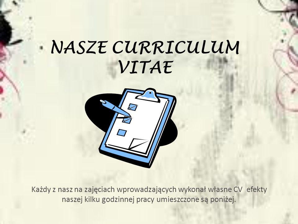 NASZE Curriculum Vitae