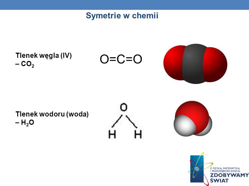 O=C=O Symetrie w chemii Tlenek węgla (IV) – CO2