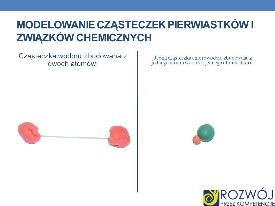 Modelowanie cząsteczek pierwiastków i związków chemicznych