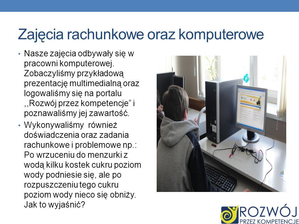 Zajęcia rachunkowe oraz komputerowe