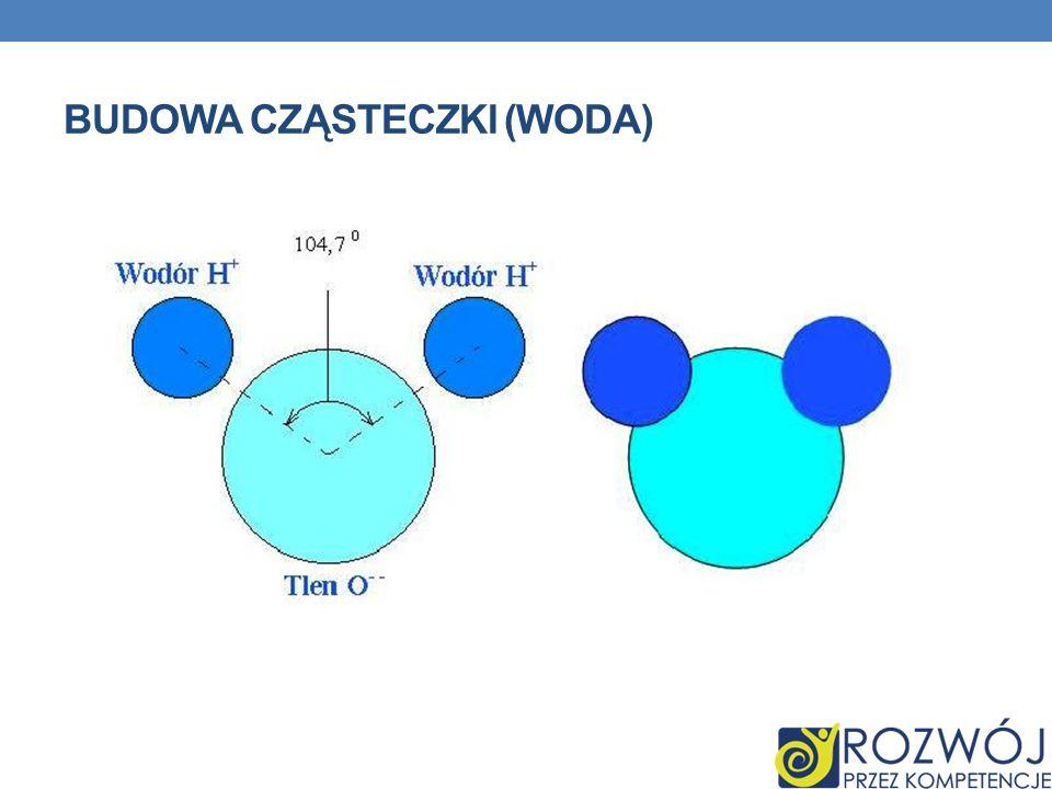 Budowa cząsteczki (woda)