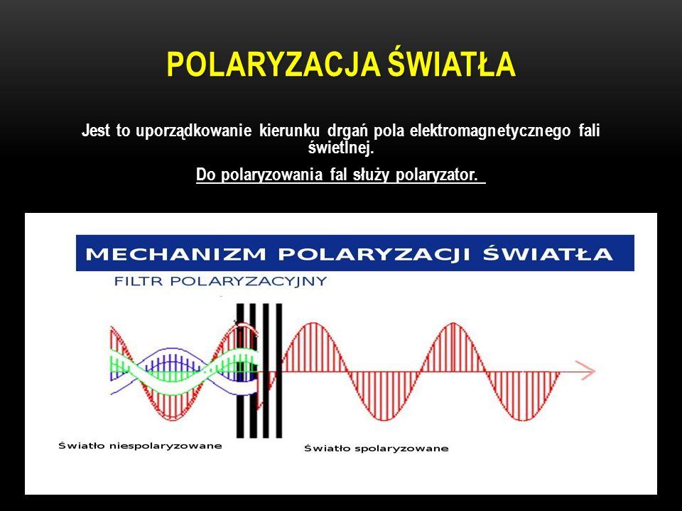 Do polaryzowania fal służy polaryzator.